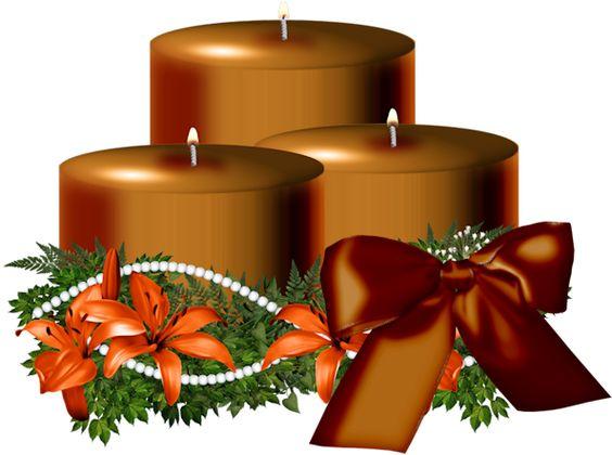 letras navidad png | Recursos infantiles: Velas de Navidad PNG Candels Christmas