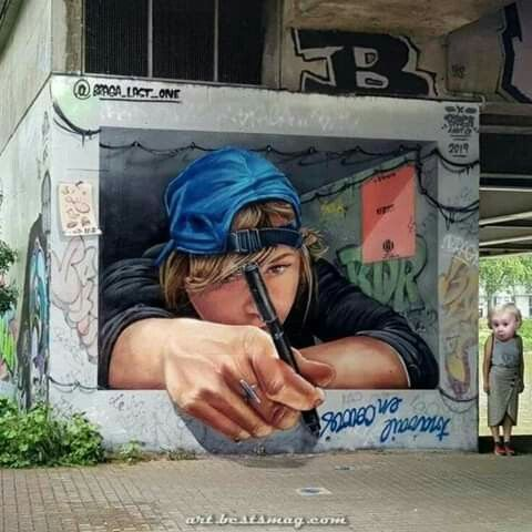 Pin By Aslam Artwork Painting On 3d Wall Painting In 2020 Street Art 3d Street Art 3d Wall Painting