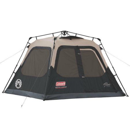 Coleman Instant Set Up 4 Person Tent 8 X 7 Beige Cabin Tent Family Tent Camping Best 4 Person Tent