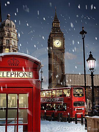 London at Christmas time