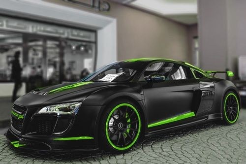 Can't say that I have seen an Audi R8 like this in a showroom or sales brochure. How stupid