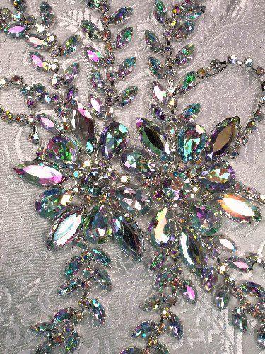 XR83 CAB Crystal Aurora Borealis Rhinestone Applique Embellishment 9