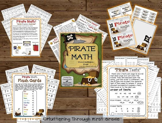 Pirate Math ~ Timed Addition Facts Program.
