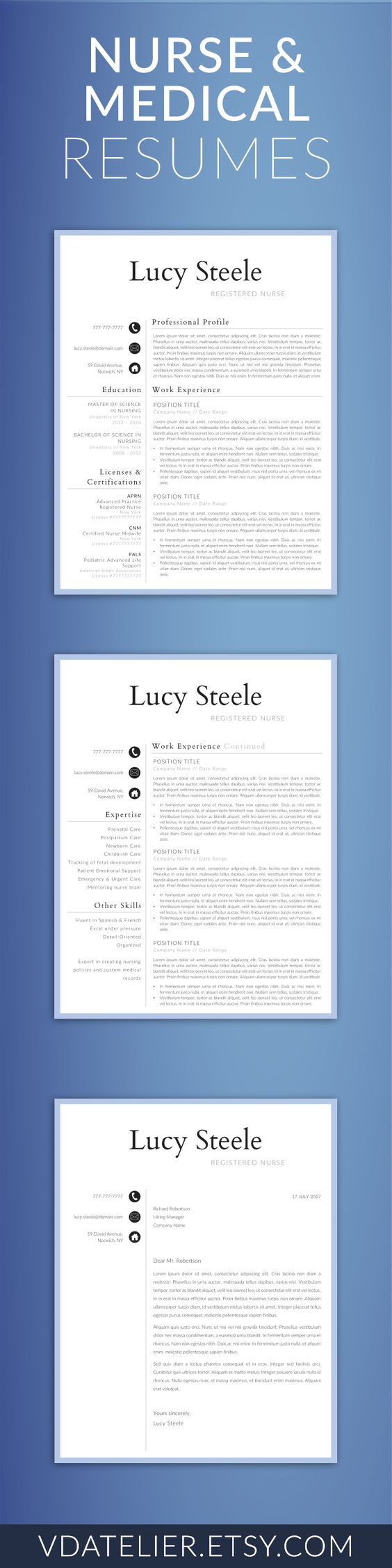 Advanced Practice Nurse Sample Resume Stunning Nurse Resume Template For Word & Pages Landeddesignstudio .