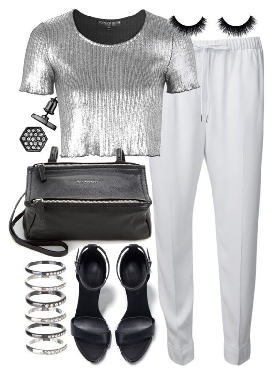 """""""Untitled #19285"""" by florencia95 ❤ liked on Polyvore featuring Alexander Wang, Topshop, Givenchy, Zara, Simply Vera and M.N.G"""