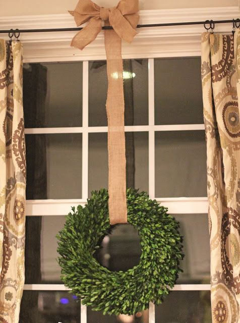 Boxwood Wreath And Burlap Everyday Decor Home Decor