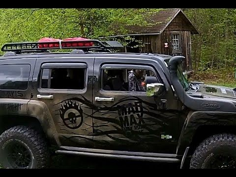 Hummer H3 and Jeep Off Road in Ontario Canada woods. Hope MAD MAX take s...