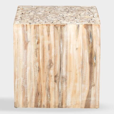 Teakwood Branch Fiora Accent Table With Images Accent Table
