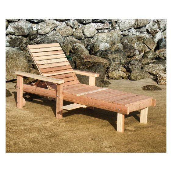 Outdoor Best Redwood Single Beach Chaise Lounge - CLBES