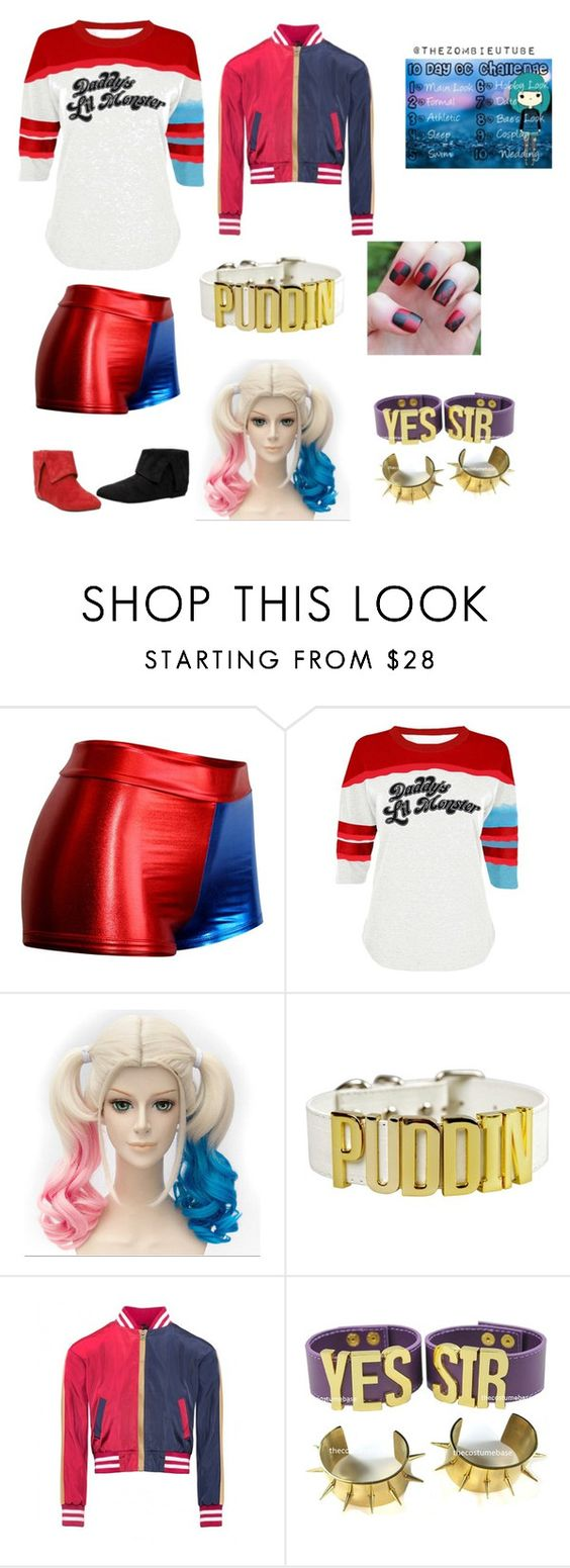 """""""Day Nine: Cosplay (Harley Quinn)"""" by obsessedalex ❤ liked on Polyvore"""