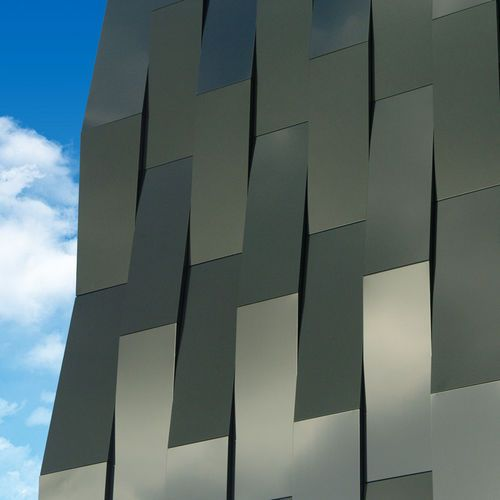 Aluminum Composite Panel Facade For Facade Cladding Panel Elval Colour S A Design