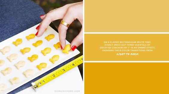 Ombré School of Goldfish Crackers // recipes