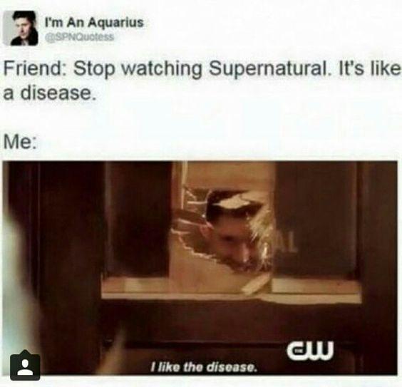 I like the disease