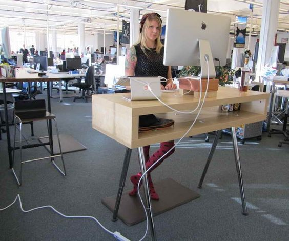 Standing desks desks ikea and hacks on pinterest for Ikea motorized standing desk