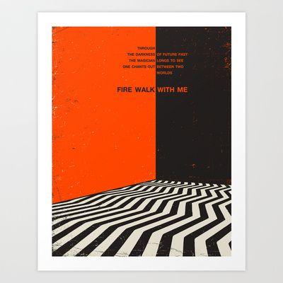 Twin+Peaks+Art+Print+by+Jazzberry+Blue+-+$19.00