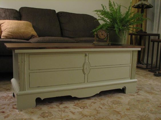 Cedar Chest Turned Coffee Table From Funcycled Funcycled Painted Furniture