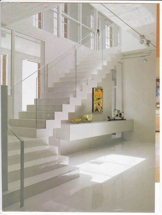 White Stairs Modern Interior Design And Search