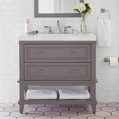 Beautiful Farmhouse Bathroom Remodel From Small Closet White