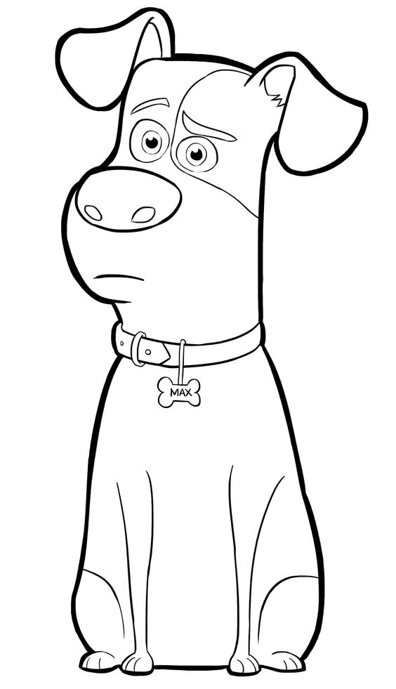 Max From The Secret Life Of Pets Coloring Page Puppy Coloring