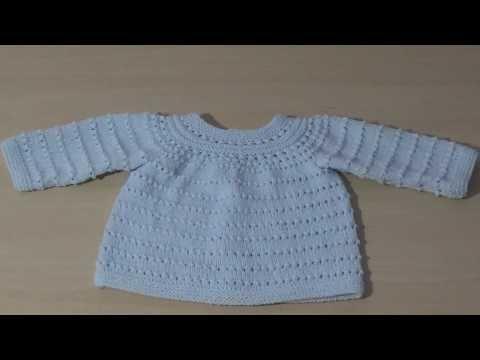 Jersey O Chaqueta Para Bebé En Dos Agujas Paso A Paso Completa Youtube Chaqueta Bebe Punto Chaqueta Bebe Jersey Bebe Dos Agujas