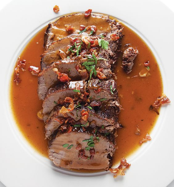 Sauerbraten.. I learned how to make this in Germany. It's awesome!!