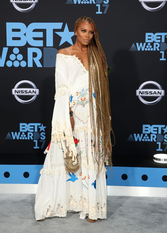 2017 bet awards red carpet, fashion, dresses, celebs, eva,