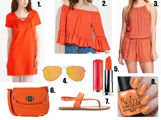 Orange You Glad? I am so glad orange is still having a fashion moment for summer. It is almost my favourite colour... http://clothesbutnotquite.com/this-that-thursdays/orange-you-glad/
