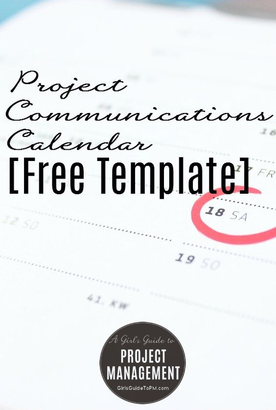 Project Communication Plan Template Free Download – Free Project Management Calendar Template