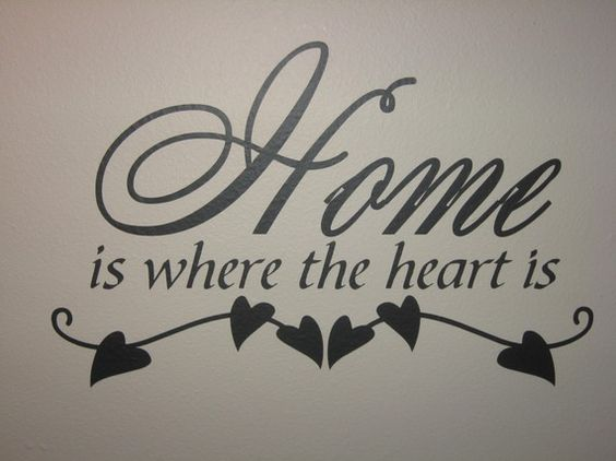 Home is where the heart is wall vinyl quote by scrapsoflovebyjen, $14.00