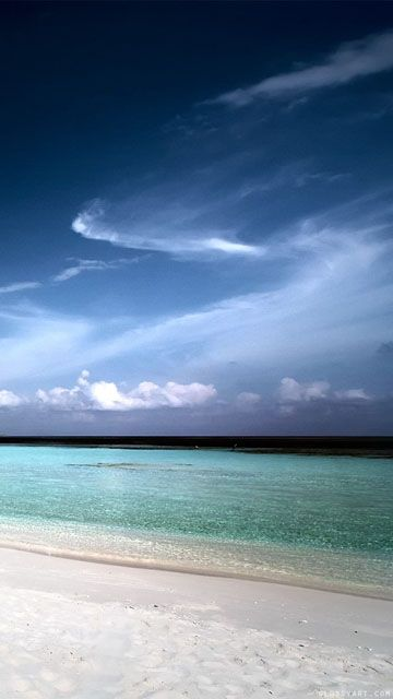 phone Wallpaper Island beach sea landscape sky mobile