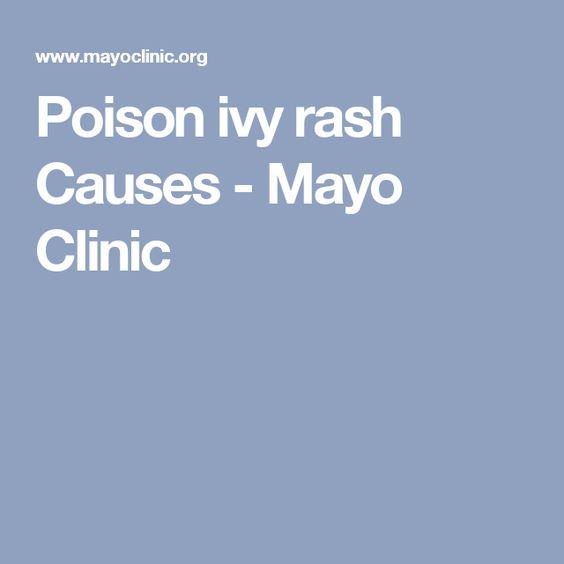 Poison ivy rash Causes - Mayo Clinic