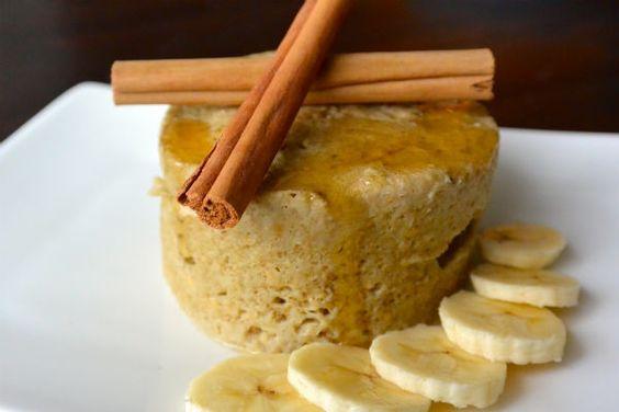 Mug cake met havermout en banaan ♥ Foodness - good food, top products, great health