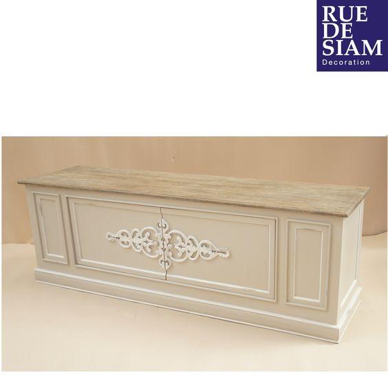 buffet deux portes style gustavien dessus en c dre blanc. Black Bedroom Furniture Sets. Home Design Ideas
