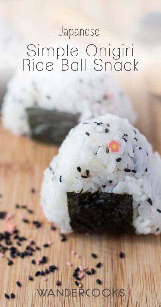Simple Onigiri Rice Ball Snack