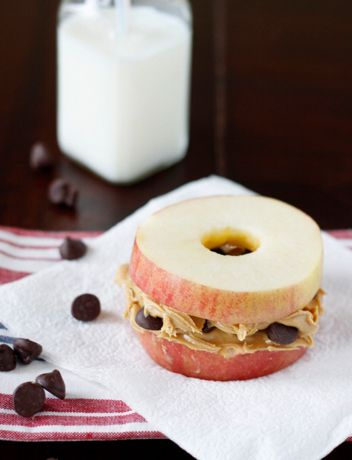 peanut butter apple sandwiches