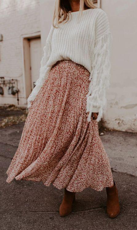 outfits casuales con falda 2019