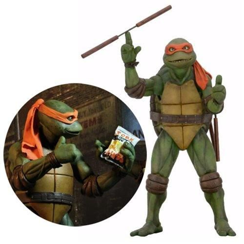 Teenage Mutant Ninja Turtles NECA 1//4 SCALE TMNT MOVIE Michelangelo Figure