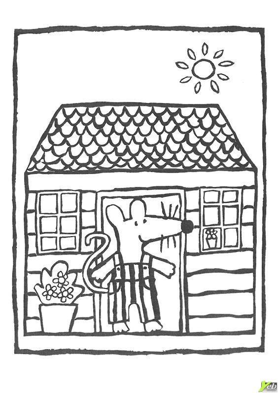 Mimi dans sa maison coloriage souris pinterest for Attraper souris maison