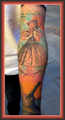 Disney's Haunted Mansion Theme Tattoo. On the elevator going down.