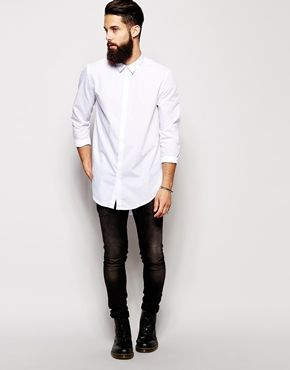 Longline White Shirt | Is Shirt