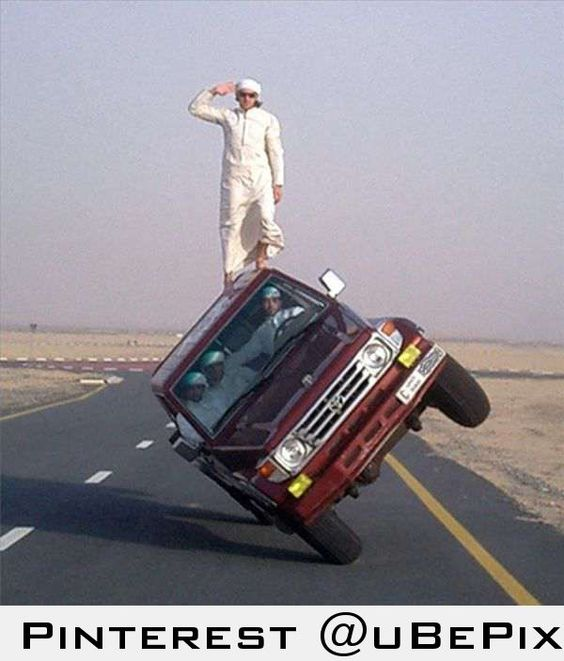 Insane car stunt outrageous pinterest stunts
