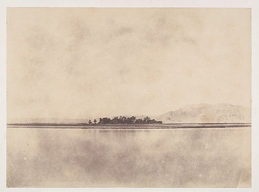 John Beasly Greene, The Nile in front of the Theban Hills, 1853