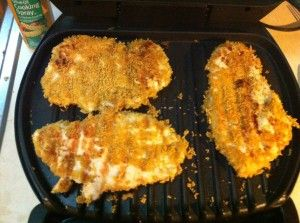 how to cook chicken breast on a george foreman grill