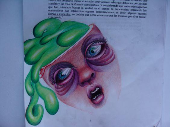 Arte Dibujo Ilustración Art draw ilustration dessin design cerebro fantasía brain