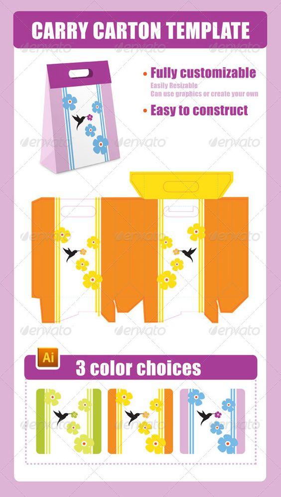 Carry Carton Template 2468048