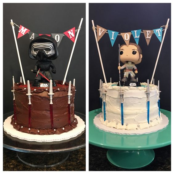 Disney star wars party and disney parties on pinterest - Star wars birthday cake decorations ...