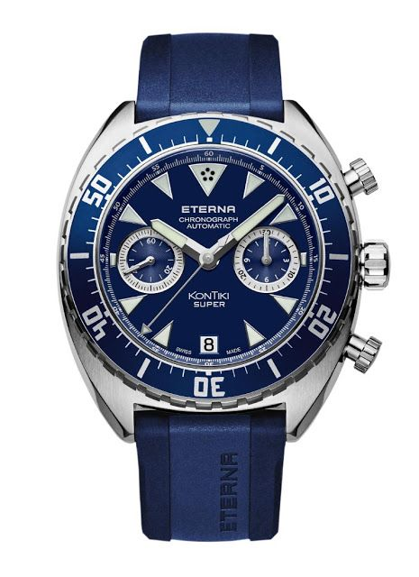 """Eterna Super KonTiki Chronograph """"Blue"""" 