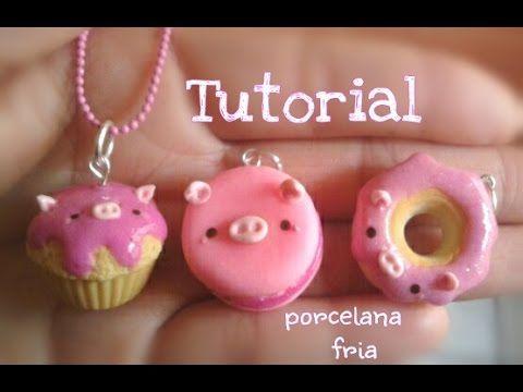 Dona, cupcake, macaron KaWaii tutorial PORCELANA F
