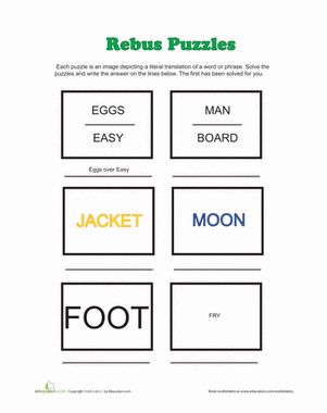 Rebus Puzzles | Rebus Puzzles, Puzzles and Worksheets