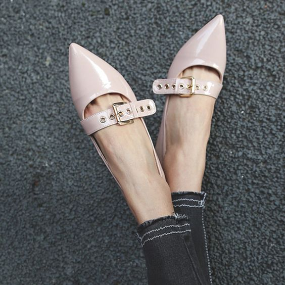 Pink peep toes for winters